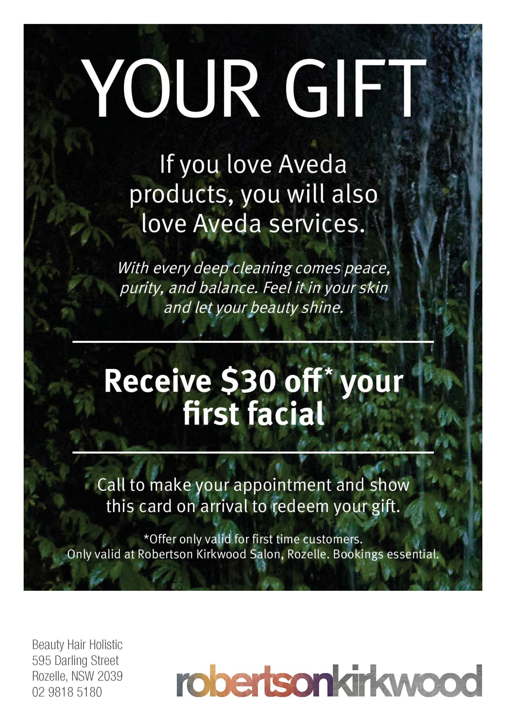 $30 Facial Welcome Offer Voucher